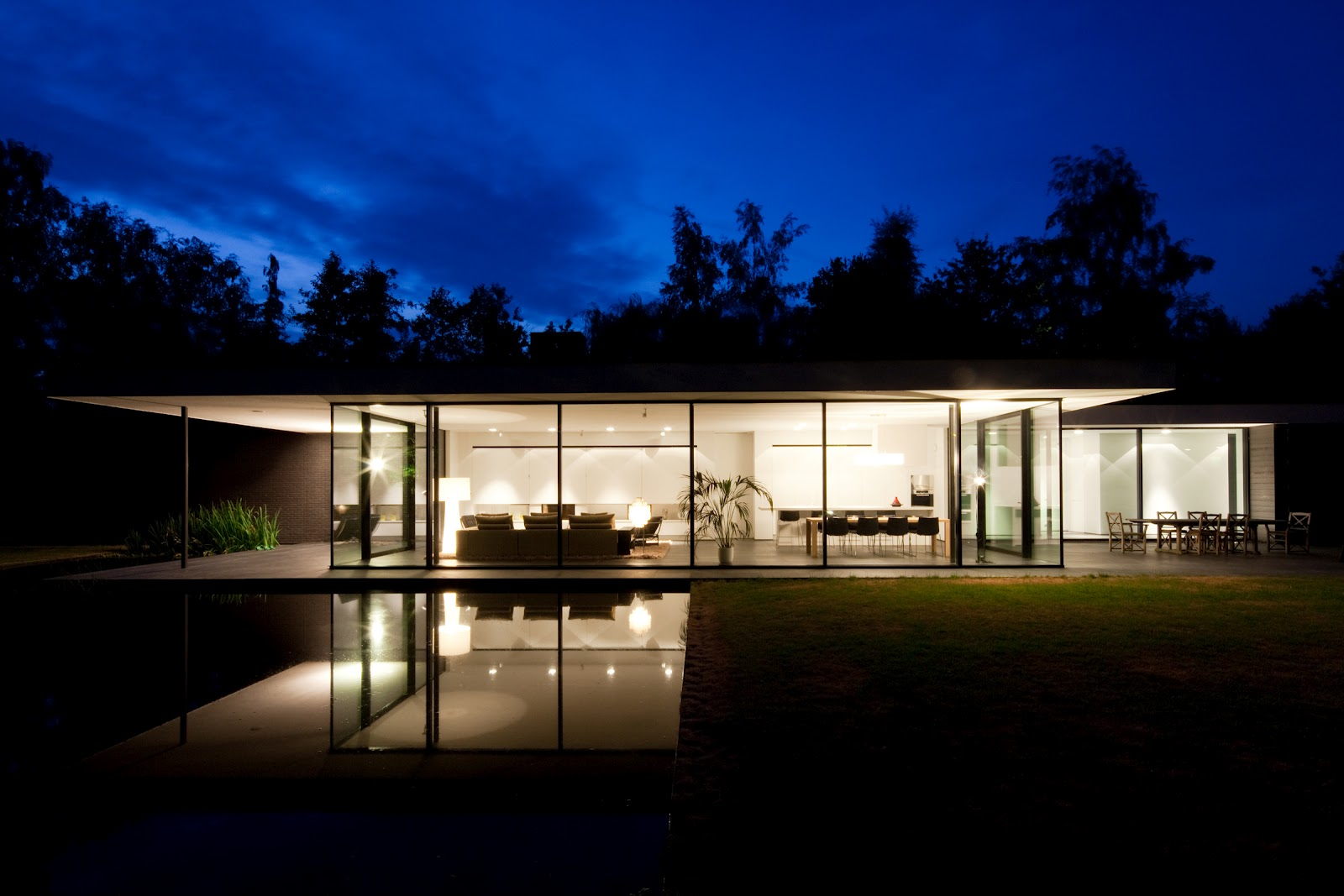 Ultra modern minimal glass house modern design by for Glass house blueprints