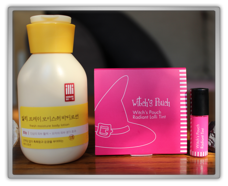 겟잇뷰티박스 by 미미박스 memebox beautybox Global #11 unboxing review preview box look inside Illi fresh moisture body lotion Witch's pouch radiant lolli tint 3 fucky bloom