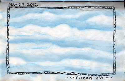 Clouds drawing by © Ana Tirolese