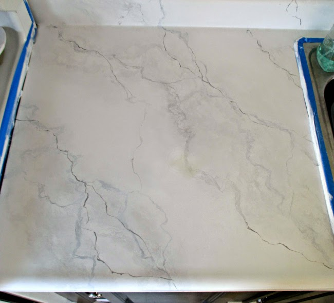 DIY faux marble countertops