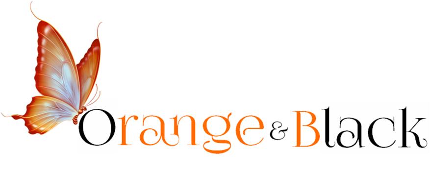 Borboleta Orange&Black