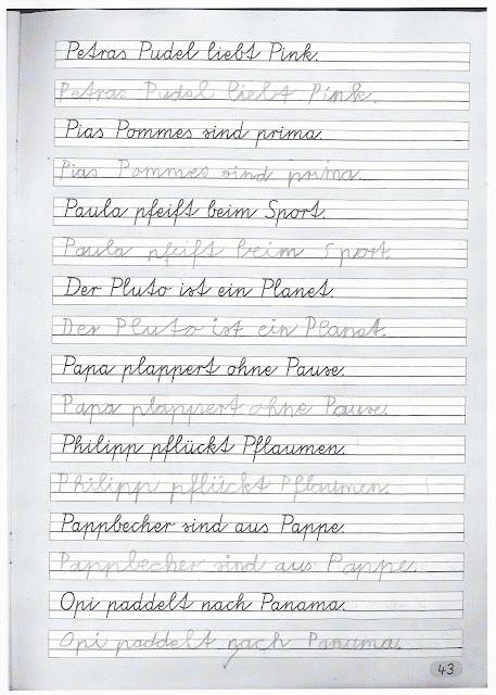 écriture cursive allemande