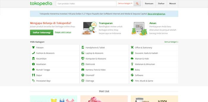 Situs Toko Online Tokopedia