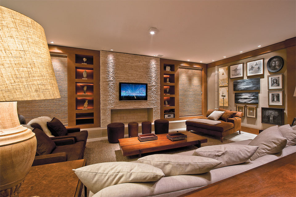 Home Theater Oito Projetos De Salas De Tv Casa  Auto Design Tech
