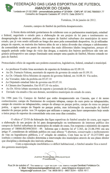 CAMPOS DE FUTEBOL DESAPARECENDO