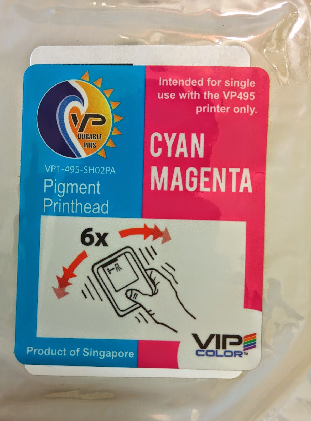 Color printer label - I Did Find The Labeling Of The Ink A Bit Odd As You Can See Easily The Hp Label Behind The Vip Label