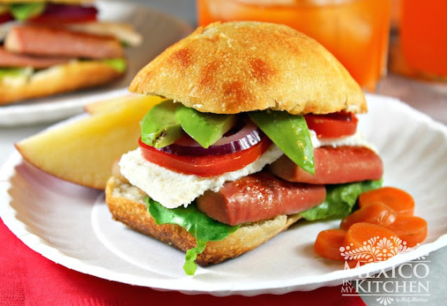 Mexican-Torta-sausage