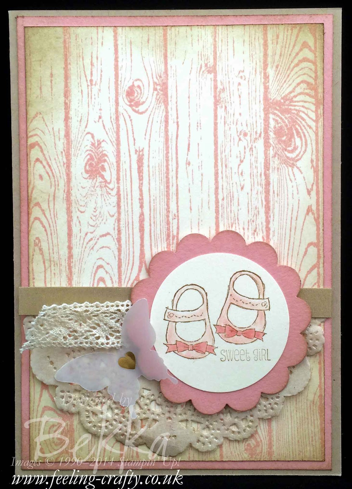 New Aunt Card by Stampin' Up! UK Independent Demonstrator Bekka - get everything you need for this card here