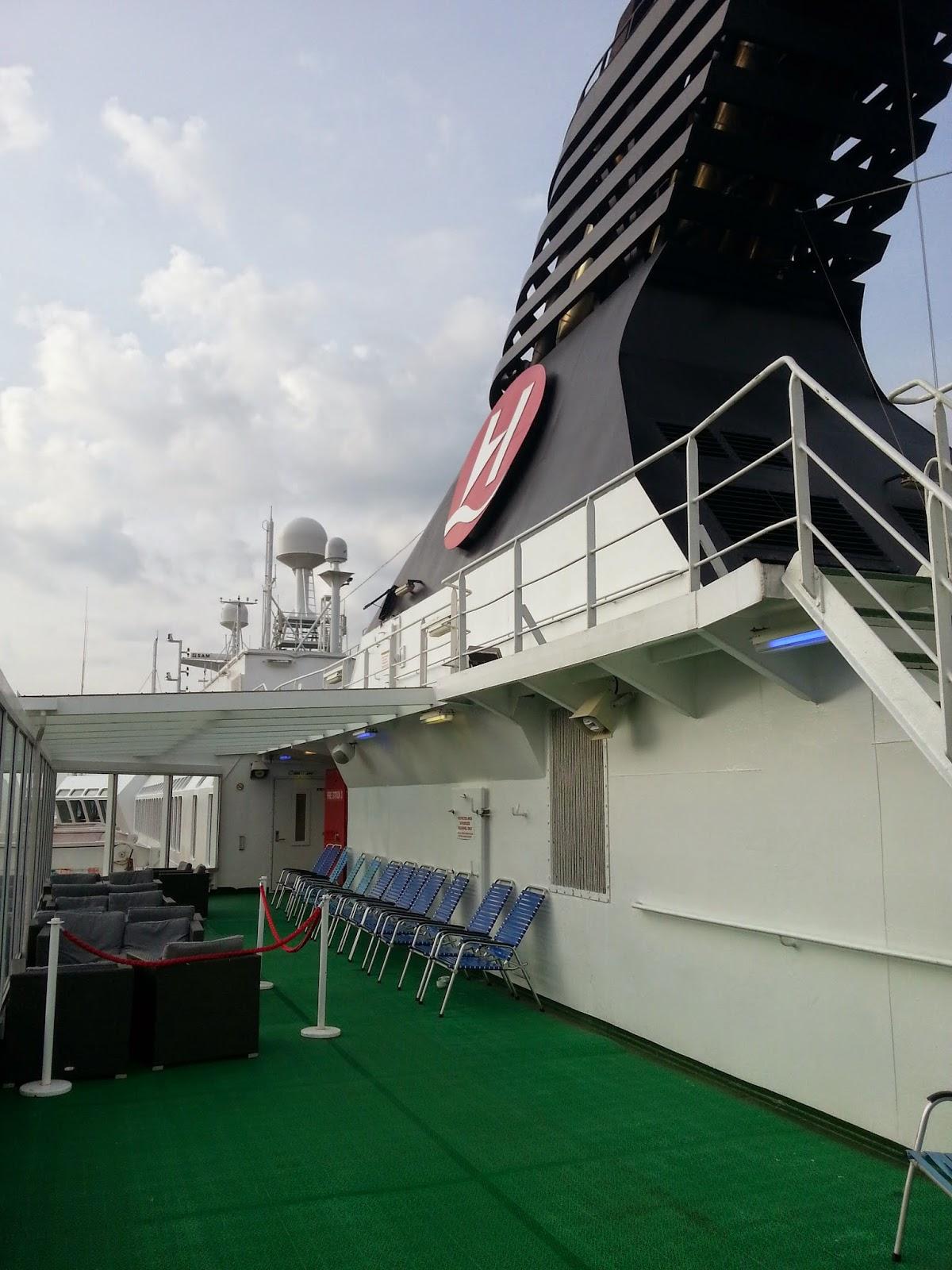 Hurtigruten MS Nordkapp - Sun Deck and Funnel