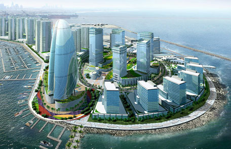 Gulf, Dubai, Construction, 229-metre-high, The Landmark Tower, Dubai Maritime City (DMC), Commence, Khamis J Buamim, Chairman, Drydocks World and Maritime World, 5-star business hotel, Serviced apartments, Business centre, Retail and leisure facilities.