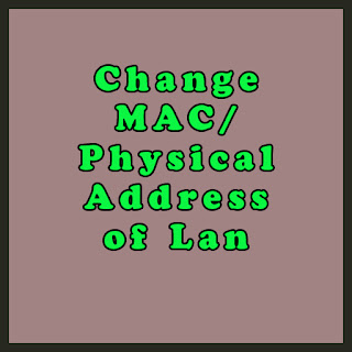 Change Mac Address of Network