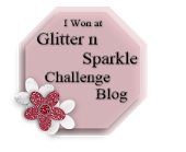 I Won at Glitter and Sparkle Challenge Blog January 2014