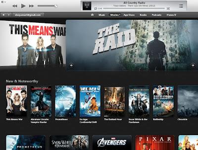 Tampilan iTunes Store Film di iTunes 11