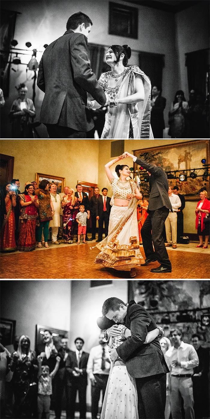 San Martin wedding reception first dance Clos LaChance Winery