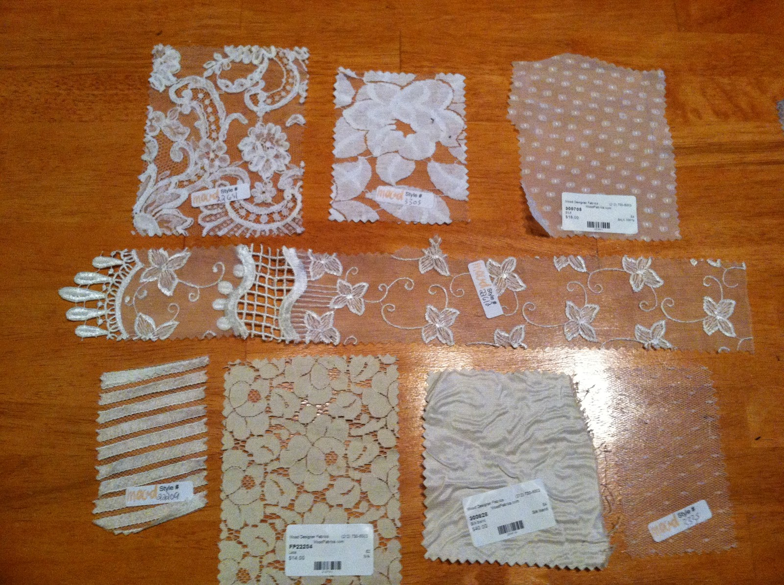 Molly 39 s sewing and garage sale adventures wedding dress for Wedding dress fabric samples