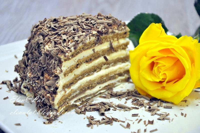 Шоколадно карамельный крем для торта