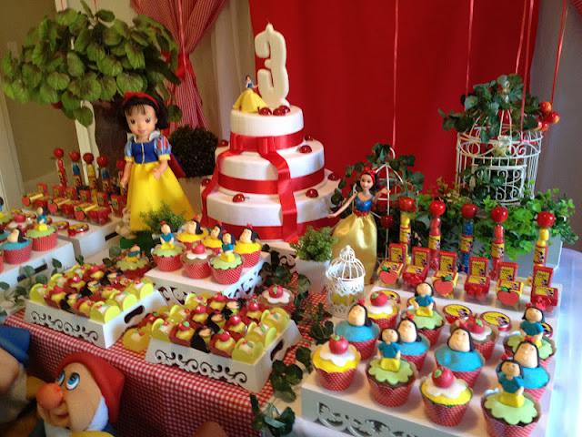 decoracao de aniversario tema branca de neve:Ideas de Fiesta: Aniversário tema Branca de Neve