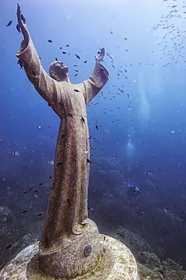 Christ of the Abyss San Fruttuoso Liguria Italy