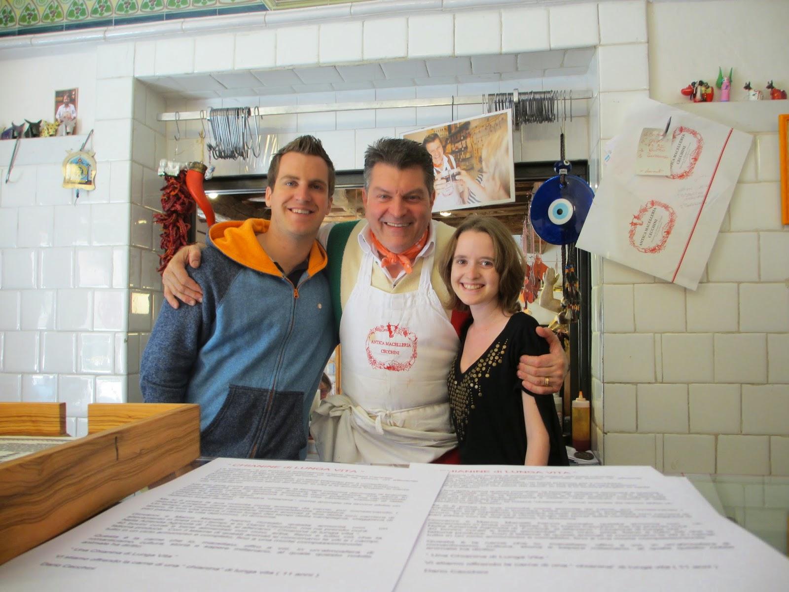 Visiting the butcher legend, Dario Cecchini, in Chianti