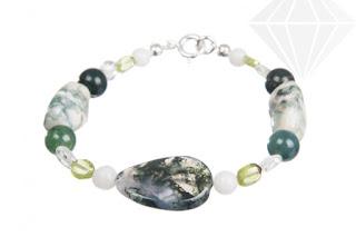 Imagine cu bratara cu cristale norocoase pentru femei si barbati din zodia Taur