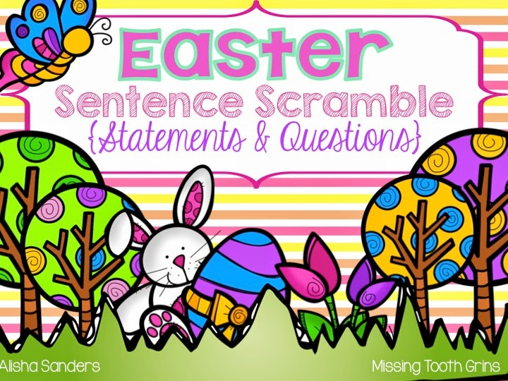 http://www.teacherspayteachers.com/Product/Easter-Sentence-Scramble-1208530
