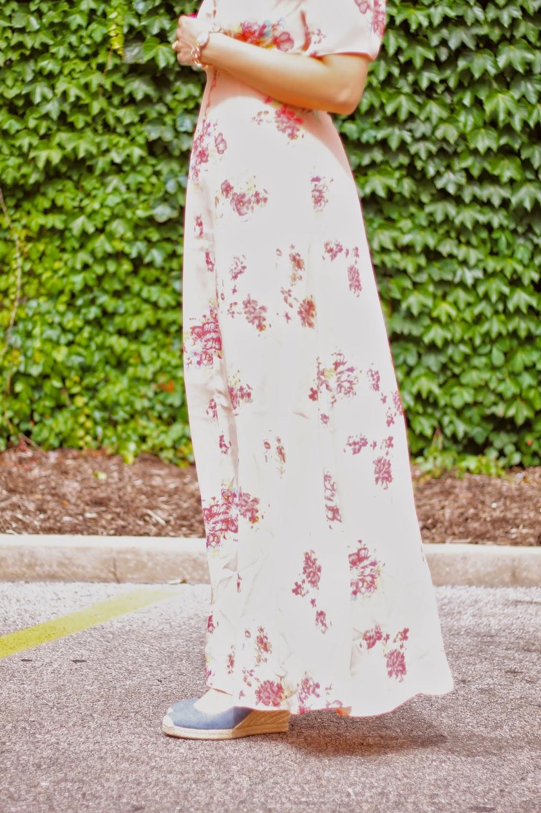 asos, floral, maxi, dress
