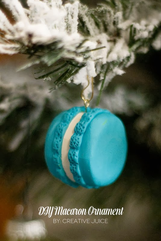 The Party Hop: Handmade Holiday DIY macaron ornament