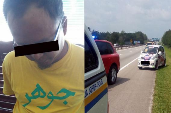 Lelaki Tunjuk Isyarat Lucah Pada Konvoi Sultan Johor Terima Padah