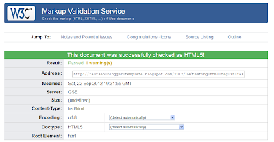 W3 Validation Test in Single Post Page