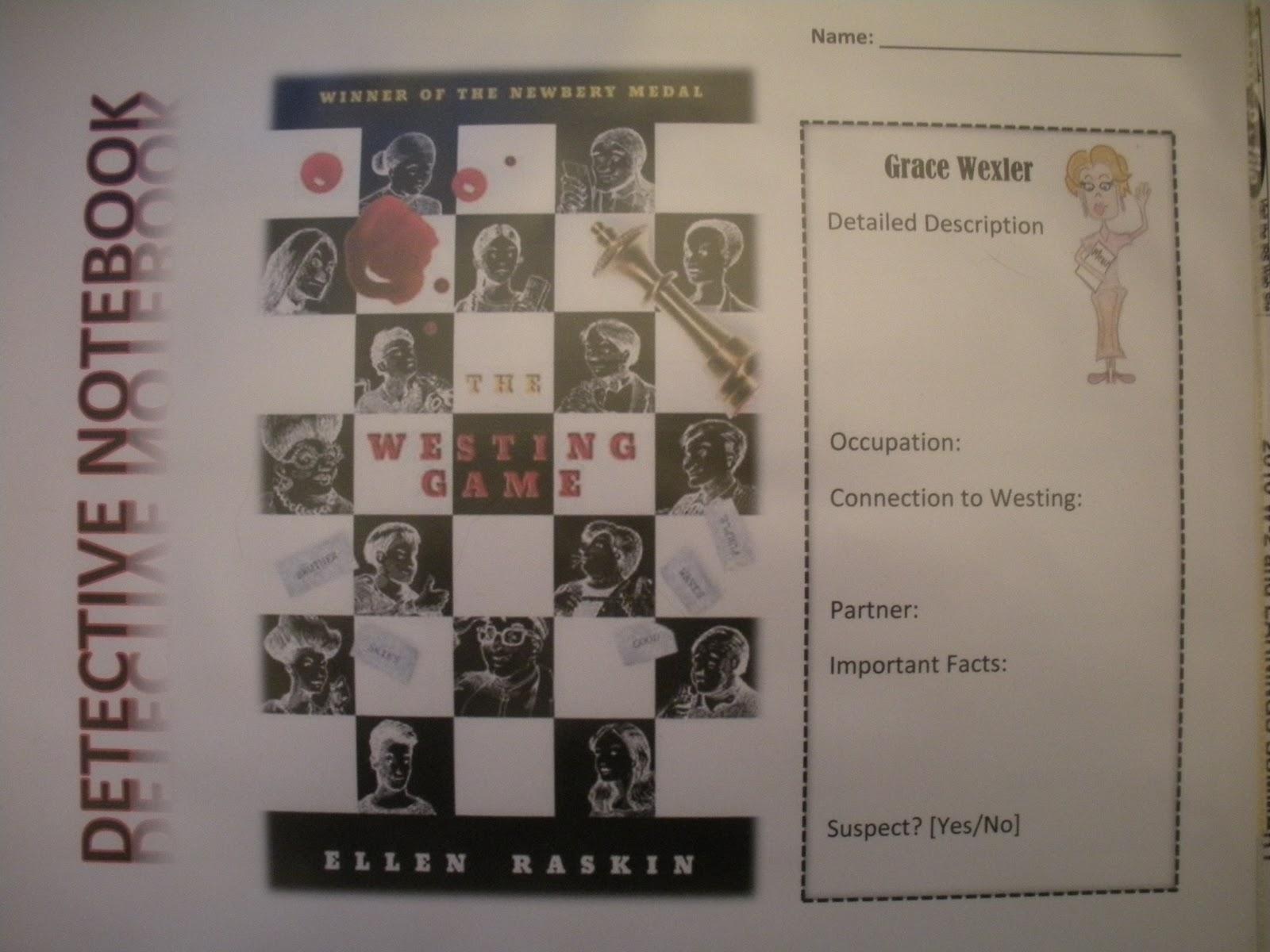 mclassy  the westing game by ellen raskin