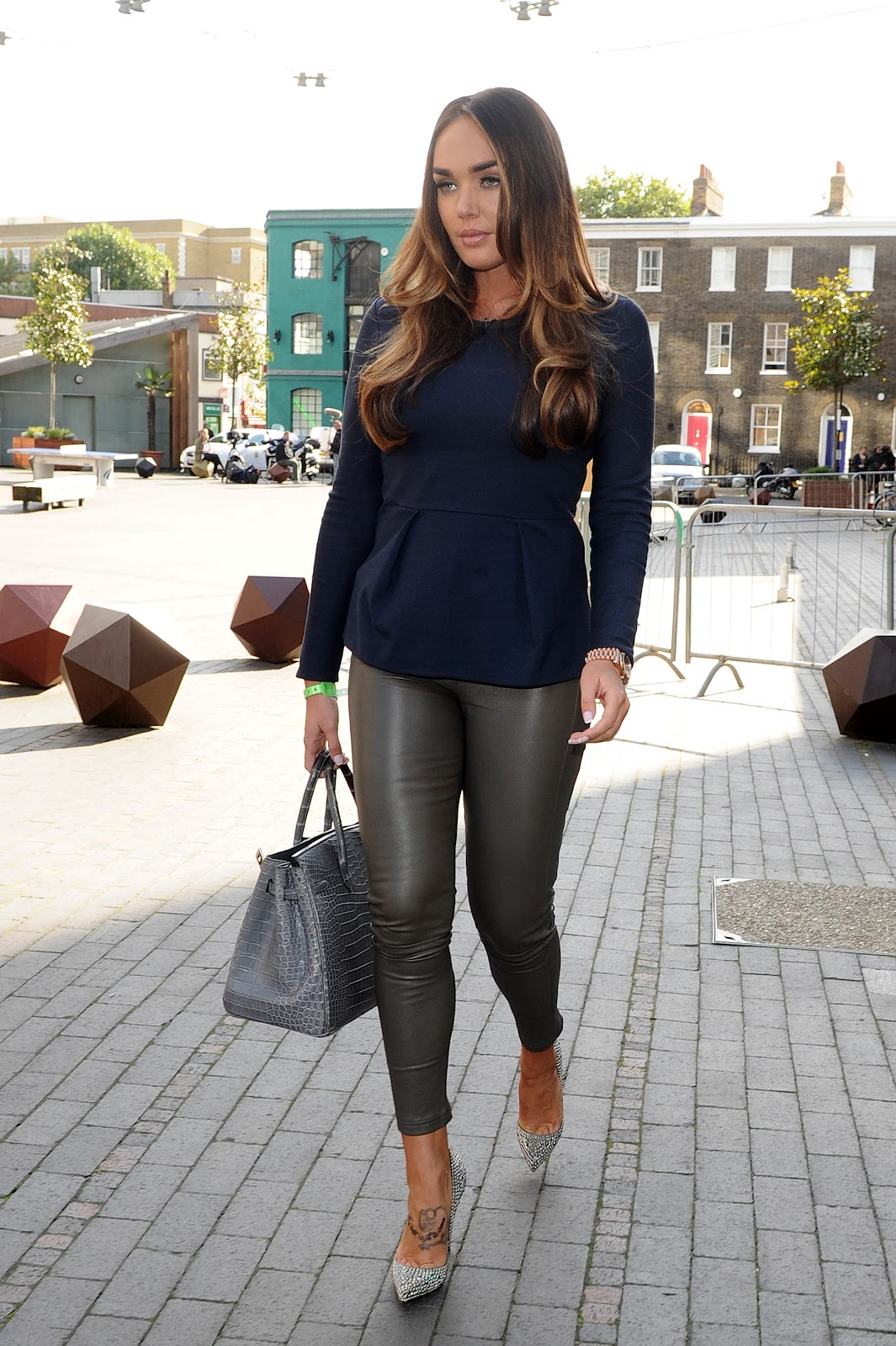 Tamara ecclestone leather pants tamara ecclestone leather dress tamara -  Tamara Ecclestone Hot In Tight Silver Pants