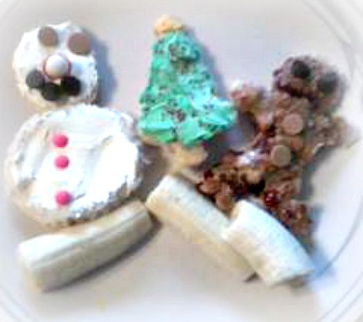 Christmas Cream Cheese Sandwich Snacks Edible Crafts