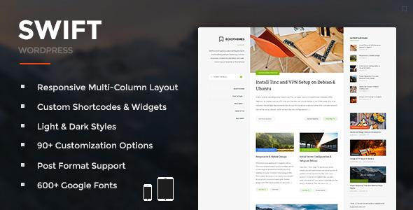 Swift - Responsive WordPress Blog Theme