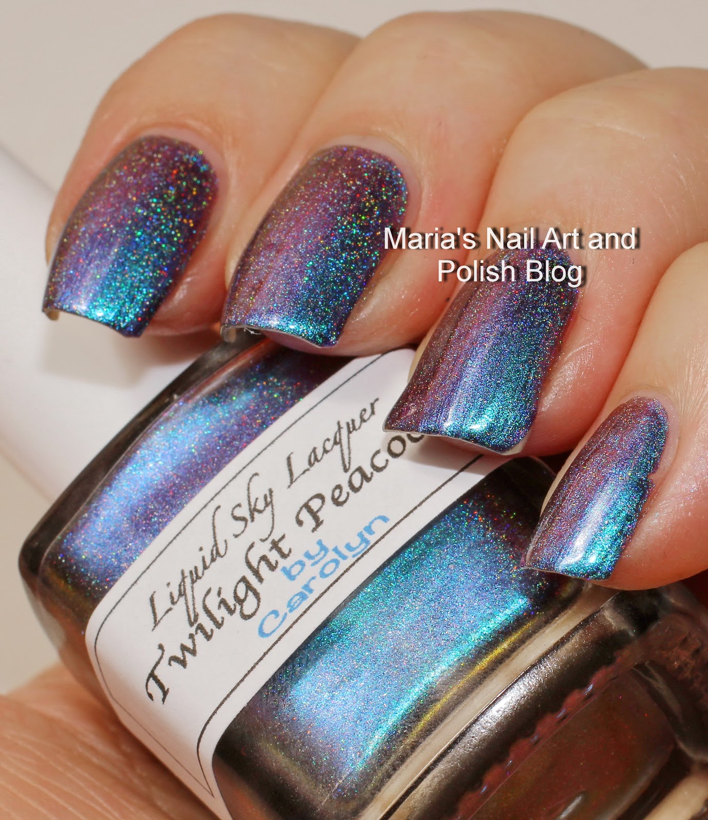 Marias Nail Art And Polish Blog Liquid Sky Lacquer Twilight Peacock