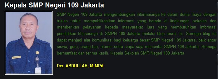 Kepala SMP Negeri 109 Jakarta