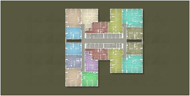 Mặt bằng căn hộ Imperia Garden Tháp B tầng 09 - 11 và 14- 28