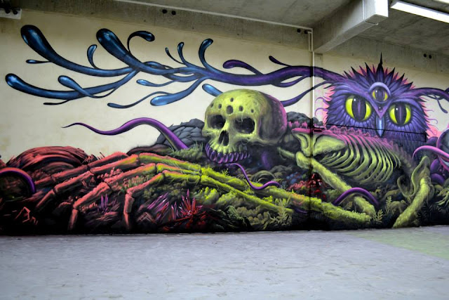 Street Art Collaboration By Jeff Soto And Maxx242 For Goodbye Monopol 2 In Luxembourg City.