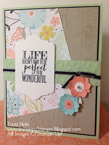 Stampin' Up! Perfect Pennants, Hardwood, Sweet Sorbet