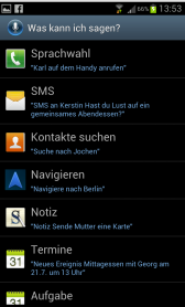 galaxy s3 s voice setting