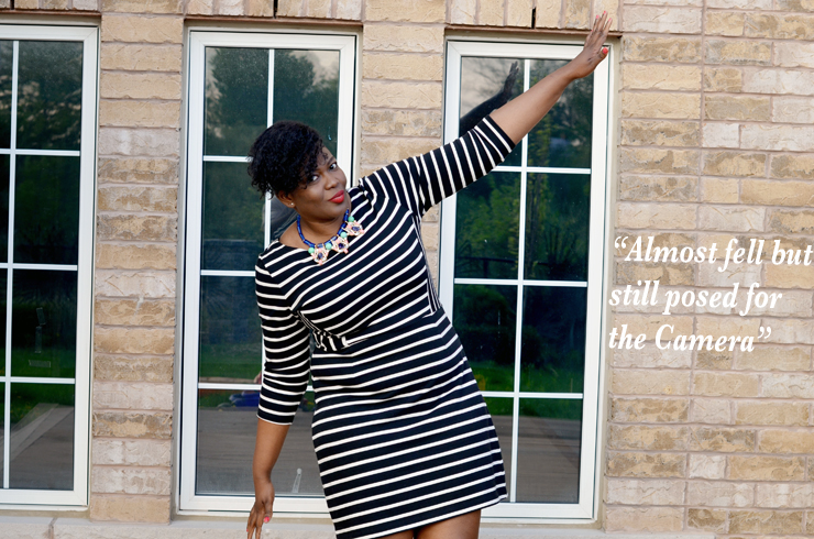 Plus size style inspiration: Gap Stripped dress