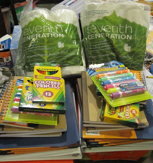 Two complete sets of school supplies that<br />are mostly green and eco-friendly&#8221;></a></td> </tr> <tr> <td>Two complete sets of school supplies that<br />are mostly green and eco-friendly.</td> </tr> </tbody> </table> <p></p> <table align=