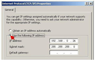 Gambar Pengisian IP Address