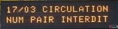 Panneau d'information sur la circulation alternée