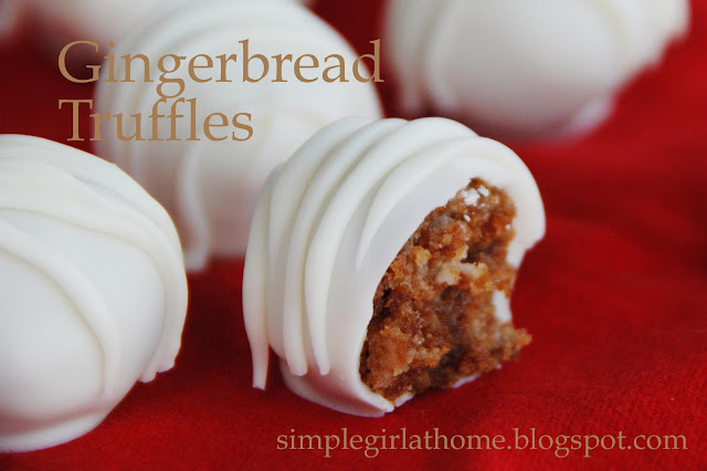 Simple Girl: Spicy Gingerbread Truffles