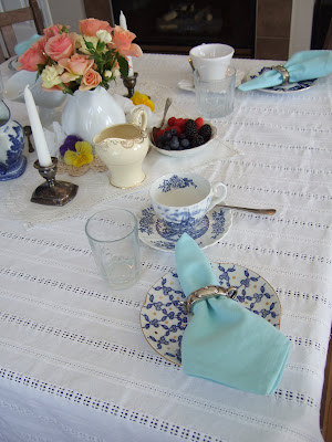 victorian, tea, party, pretty, spring, roses