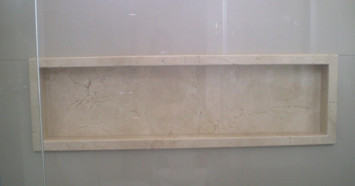 Como dar acabamento para o nicho do banheiro (pastilhas, pedra, mármore, sile -> Acabamento Do Nicho Do Banheiro