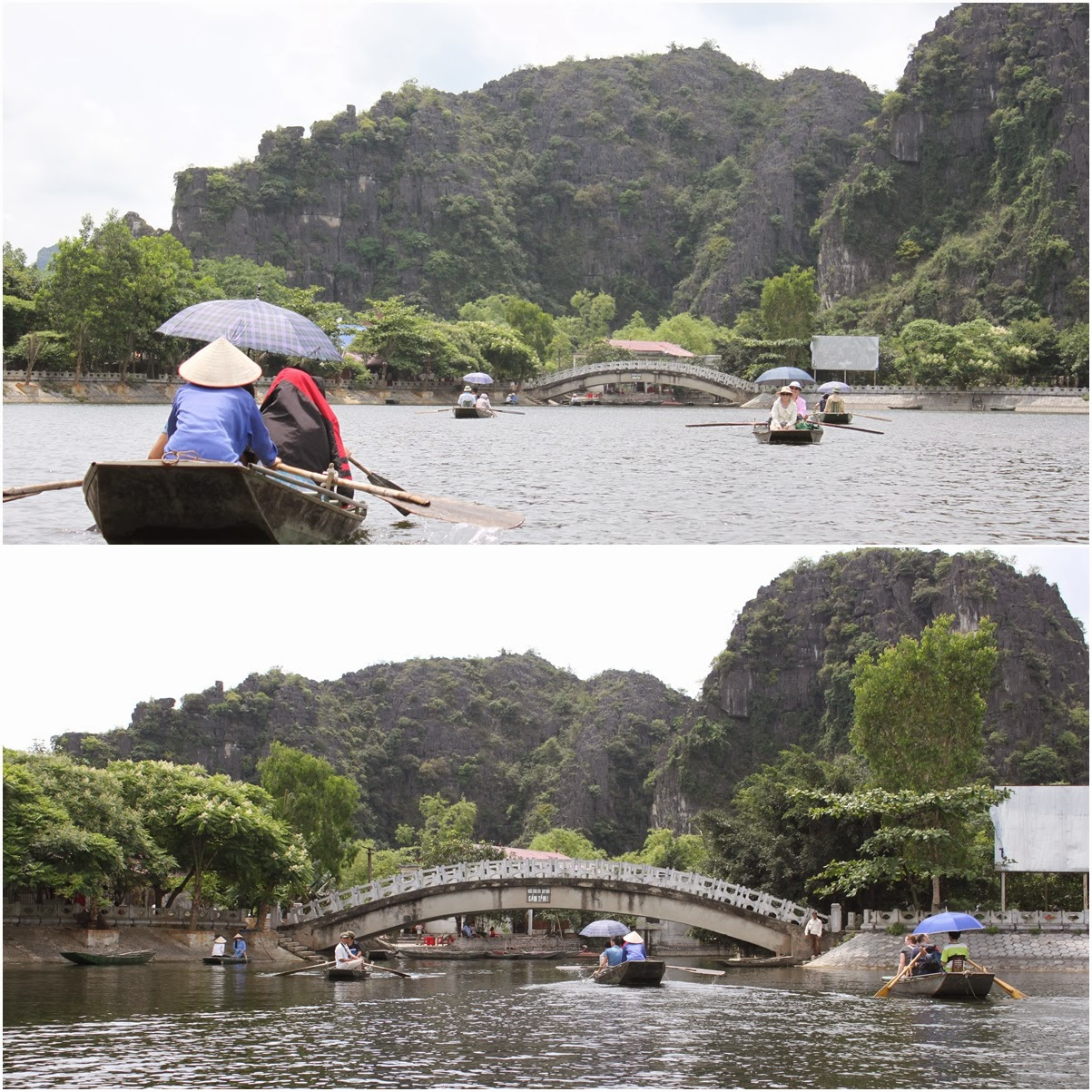 Heading out on the boat ride at Tam Coc Wharf near the city of Ninh Bình in northern Vietnam