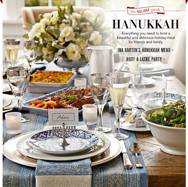 Hanukkah table Williams-Sonoma