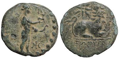Bronze AE18 of Miletos in Ionia, c. 200 BCE.