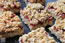 Raspberry Crumble Slices